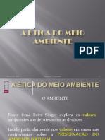 2ÉTICA DO MEIO AMBIENTE Peter Singer