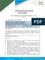 Guia de actividades y Rúbrica de evaluación - Tarea 5 - Análisis
