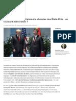 Donald Trump et la diplomatie chinoise des États-Unis _ un tournant irréversible _