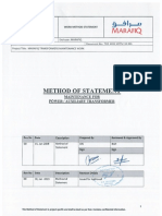 Method of Statement - Transformer Maintenance - Scanned