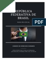 Posición Oficial República Federativa de Brasil