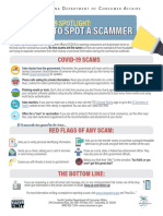 COVID-19 How to Spot a Scammer