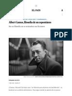 Albert Camus, filosofía de un espontáneo _ Cultura _ EL PAÍS