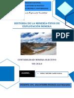 trabajo de historia de la minería