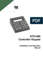 ktd400 manual PTZ cam