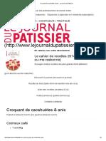 Croquant de cacahuètes & anis - Le journal du pâtissier