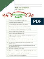 CHRISTMAS TRIVIA - QUESTIONS