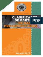 CLASIFICADOR DE PARTIDAS