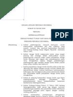 UU no 30 tahun 2009 tentang ketenagalistrikan