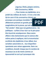 Epidémies vrais dangers et fausses alertes - Didier Raoult .rtf