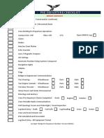 Bridge Pre-Departure Checklist - 090513