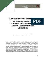 El sufrimiento se experiencia de ''muchas maneras'' o acerca de cómo pensar ana-dia-lécticamente la liberación - Luciano Maddonni & Juan Matías Zielinski.pdf