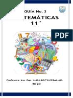 MATEMATICAS GUIA 4 -  11 A-B-C