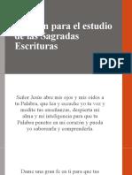 Oración para el estudio de las Sagradas Escrituras.pptx