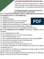 Convocatoria a Elecciones Del Municipio Escolar 2020