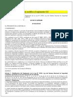 Decreto supremo 0º11  que modifica el reglamento 022