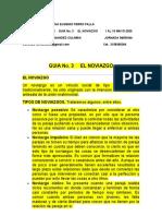 GUIA  No_ 3 y 4 El Noviago y  la  Epiritualidad