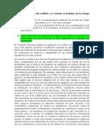 Parcial II - El fin del conflicto y la solución al problema de cultivos de uso ilícito