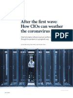 After the first wave How CIOs can weather the coronavirus crisis