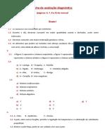 Ficha de avaliação diagnóstica (pag 6-9)