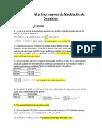 Corrección del primer examen de Modelación de Decisiones