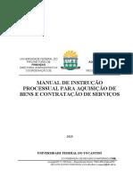 MANUAL DE INSTRUÇÃO PROCESSUAL PARA AQUSIÇÃO DE BENS E CONTRATAÇÃO DE  SERVIÇOS (1)