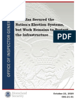 DHS OIG Election Security report