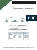 Laboratorio práctico 1.4.6 - Implementación de la seguridad de puerto