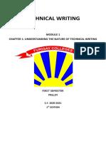 TECHNICAL WRITING Module 1
