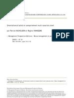 Orientations d'achat et comportement multi-canal du client
