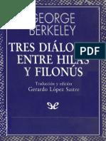 Berkeley, George - Tres Dialogos Entre Hilas y Filonus [57211] (r1.1 Oronet)
