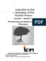 Introduction to the Philosophy of the Human Person (Q1 Wk1)
