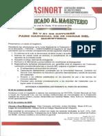COMUNICADO AL MAGISTERIO - 20 Y 21 DE OCTUBRE 2020 -PARO NACIONAL DEL MAGISTERIO
