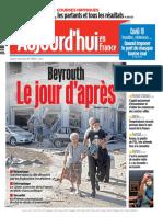 Aujourd'hui en France du Jeudi 6 Août 2020