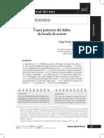 Apaza Mamani Hugo Favián - Casos prácticos del delito de lavado de activos Nº 73 -2020 Actualidad Penal (1)