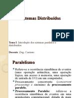 1. Introducao dos Sistemas Paralelos e Distribuidos