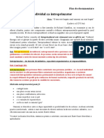 Individul ca intreprinzator-FISA DE DOCUMENTARE