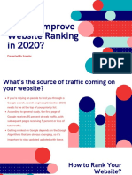 How to Improve Website Ranking in 2020?