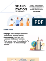 LANGUAGE AND COMMUNICATION - Group 1
