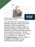 antonio luna scientific achievements