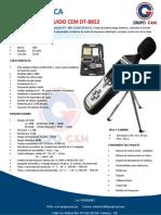 FICHA TECNICA SONOMETRO DE RUIDO PROFESIONAL CEM (TIPO EXTECH HD600) DT-8852 (1)