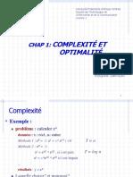Chap 1 - Complexité et Optimalité