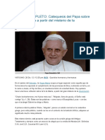 CATEQ BENDICTO XVI SOBRE MARIA