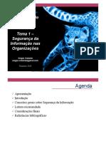 Tema 1 - Segurança da informação nas organizações
