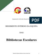 Regimento da Equipa das Bibliotecas