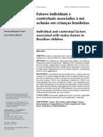 Fatores individuais e contextuais associados à má oclusão em crianças brasileiras