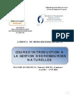 cours l3 intro à la gestion des ressources naturelles