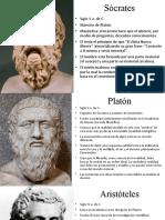 Sócrates-Platón-Aristóteles
