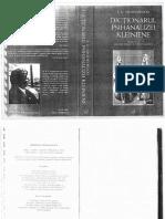 R. D. Hinshelwood Dictionarul Psihanalizei Kleiniene