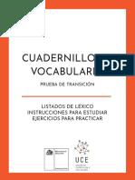 Cuadernillo Vocabulario